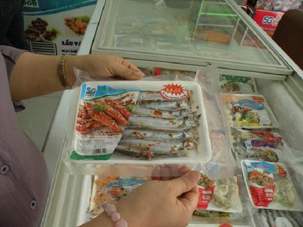 lựa chọn hải sản đông lạnh